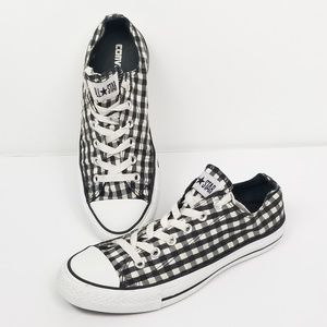 Converse All Star Low Tops Checker Plaid Shoes